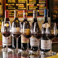 ◇厳選されたワイン◇ グラスワインも豊富にご用意。