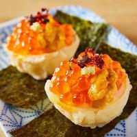 【名物】うにくらたま天!たまごの天ぷらの上に魚卵が輝く絶品◎