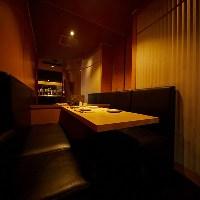 ◆4~5名席用の半個室でゆったりできます。