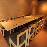 大小様々なお席をご用意。貸切は20名以上、ご宴会は30名様まで。