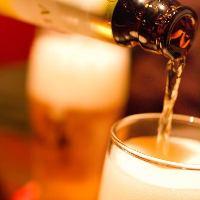 ビールには生ビール黒ラベルをご用意。串揚げとの相性が抜群!