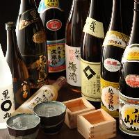 焼酎・日本酒は30種類以上をリーズナブルにご用意!ボトルも有☆