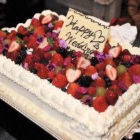 ケーキ、花束、プロジェクターなどオプションも充実。