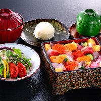 【お昼のお品書き】 お寿司で優雅なランチはいかがでしょうか