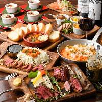 黒毛和牛をはじめ肉・野菜・ワインがリーズナブルに楽しめます!