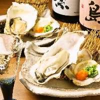 当店では三陸沖の牡蠣もご用意しております。