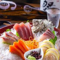 朝獲れ鮮魚の旨みを堪能♪新鮮ならではの食感や味が愉しめます