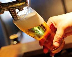 飲めば違いが分かる!!ドラフトマイスターが注ぐビールの喉越し◎