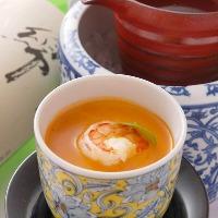 海老のクリームソース茶碗蒸し