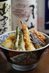 米油100% 自慢の善丸天丼♪