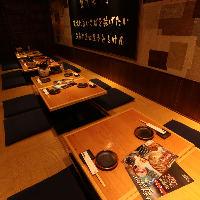 接待にも利用できる大小宴会個室をご用意。