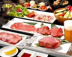 宮崎牛を贅沢に味わえる!大人の焼肉宴会はお料理のみ2,800円~