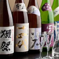 [地酒・本格焼酎も] ワインに加え、地酒や焼酎も豊富にご用意