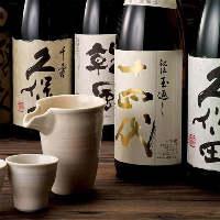 当店の料理と相性抜群の日本酒は、希少酒含む全40種以上ご用意