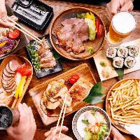 会社宴会や打ち上げに最適な2H飲み放題コース2,500円(税込)〜