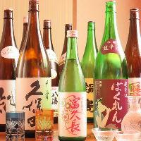 日本酒好き必見!ご当地銘柄も有。常時20種類以上と豊富な品揃え