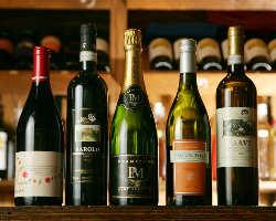 厳選ワインとお料理のマリアージュを存分にご堪能ください!