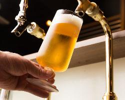 日本一の生ビールを目指しています!生ビールの達人が注ぐ一杯!