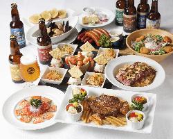 横浜ビール7種も飲み放題の宴会コースは全3種4,400円~ご用意