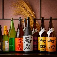 獺祭、天山、七田、龍力など多くの酒好きを魅了する品揃え