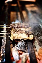 信州福味鶏の本格炭火焼串焼きを信州味噌でどうぞ!