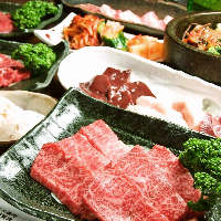 厳選肉や一品料理がずらり!2H飲放付がクーポン利用で4980円~!