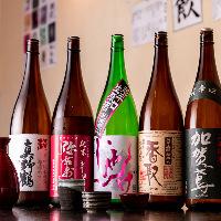 厳選5種類の日本酒をお楽しみください♪