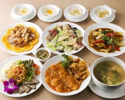 普段のお食事にも最適なコースプラン、龍門の味存分にご堪能あれ