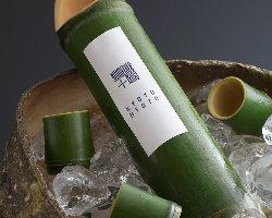 京都西山の孟宗を使用した青竹酒などもご用意しております。