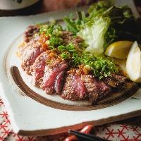 ■本鮪の希少部位ほほ肉レアステーキ!一度食べてみてください♪