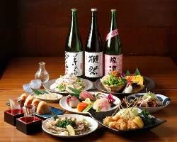 2H飲み放題付コース 4100円~ 15名以上で幹事無料!!