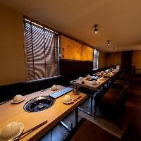 寛ぎの和モダン空間で宴会・接待!個室も多数ご用意しております