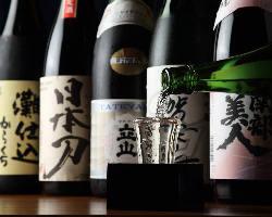 [日本酒50mlから] 種類豊富なドリンクをご用意!
