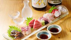 産地直送の鮮魚はお造りはもちろん焼き物、煮物、海鮮鍋でどうぞ
