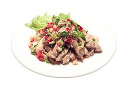 蒸し鶏の四川風冷菜