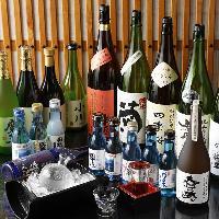 日本酒などドリンクメニューも豊富にご用意しております。