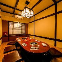 [大小個室完備] 記念日から大人数ご宴会迄可能な完全個室♪