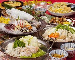 お得なご宴会コースも各種3,500円からご用意しています。