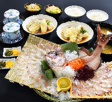 日祝ランチ限定! 釣り込み定食1980円(税別)