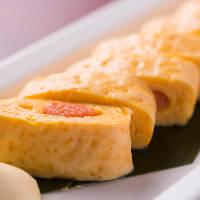 【逸品料理】 九州産の明太子と耳納連山の赤卵は相性抜群
