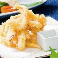 【イカ後料理の天ぷら】イカの活造りを食べた後のお楽しみに!