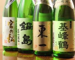 『基峰鶴』『東一』など地元佐賀県の地酒は常時5種ございます