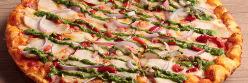 チキンとバジルソースのピザ