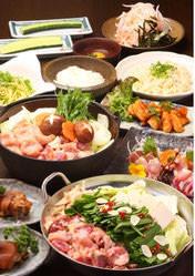 寒い時期におすすめ! 鍋コース「華」 地鶏鍋含む全7品2000円