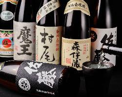 九州といえば焼酎!選りすぐりの銘柄を揃えております。