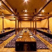 宴会最大46名様!大人数でのご宴会も個室でお楽しみ頂けます。