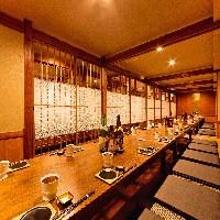 完全掘りごたつ式個室は、様々な宴会シーンに対応可能です♪