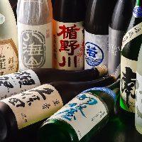 【全国の日本酒】 四季限定や本数限定を含め30種類以上を常備◎