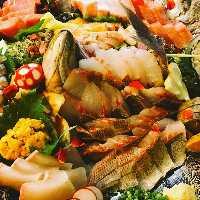 鮮魚の盛合せは圧巻