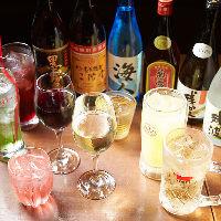豊富な種類が楽しめる飲み放題 時間延長オプションもご用意!